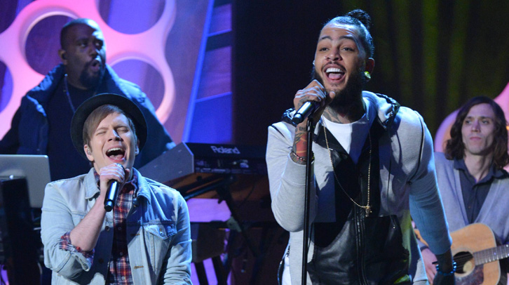 Travie McCoy and Patrick Stump on The Queen Latifah Show
